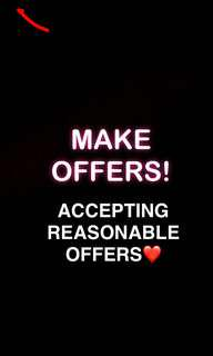 Make offers! 😇
