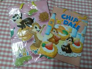 DISNEY CHIP AND DALE  紙袋仔共2個