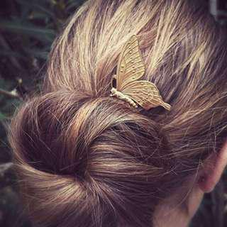 """""""Marguerite"""" Boho Butterfly hair comb"""