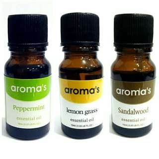 3 bottle aroma essential fragrance oil 10ml  defuser humidifier air putifier