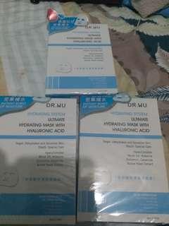 Dr.Wu玻尿酸保濕微導面膜3盒3片裝(包順豐)