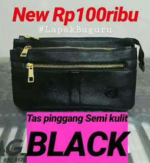 Tas pinggang FAUX LEATHER Black