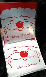 NEW 10cm Santa / Reindeer Design Cookie or Candy Plastic Pouch 20 pcs