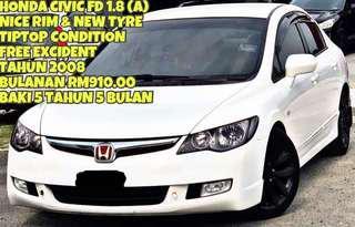 SAMBUNG BAYAR HONDA CIVIC FD 1.8 (A)