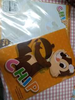 Disney Chip and Dale A4 File 及10張信紙