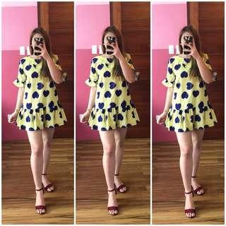 Peplum Dress w/ Heart Deets