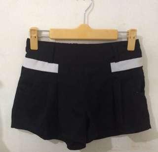 Korean Inspired Black Short
