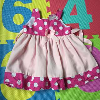 Pink dress for baby girl 6-12months