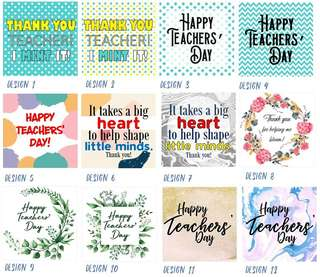 Teachers Day Tags - Personalized - 5 tags for $3