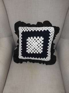 Hand made frill cushions