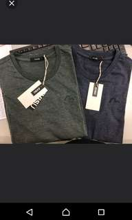 Evisu Tee 短袖 L碼灰綠色 M碼藍色