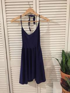 American Apparel Blue Halter Dress
