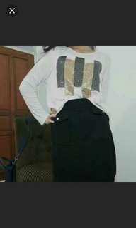 Black skirt hnm h&m #merdeka73