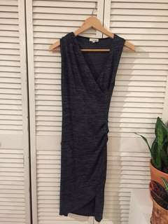 Aritzia Wilfred Free Wrap Style Sleeveless Dress