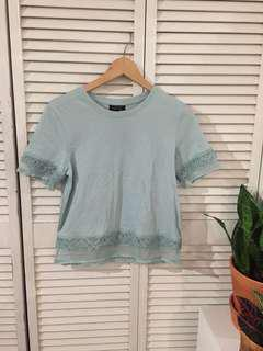 Blue Topshop Short Sleeve Top