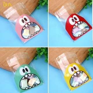 NEW 10cm Kids Design Cookie or Candy Plastic Pouch 20 pcs