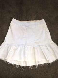 Denim style wash skirt