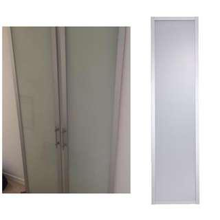 Ikea Drammen Aluminium Glass Wardrobe Door
