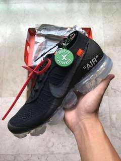 Off White Nike Vapormax Black US 9.5