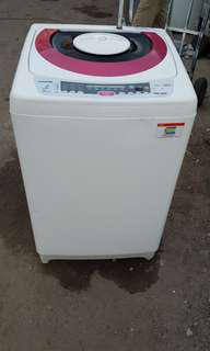 Used Toshiba washer 9.0kg washing machine mesin basuh fully automatic stainless steel drum in good condition