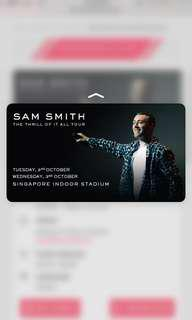 SAM SMITH THE THRILL OF IT ALL TOUR 3RD OCT
