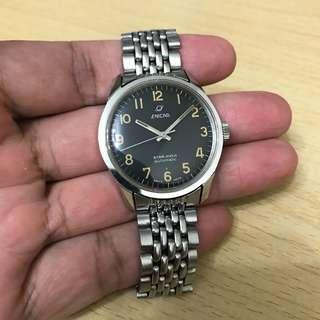 1960年代英納格 Enicar 黑粉面大夜光操兵字自動手錶