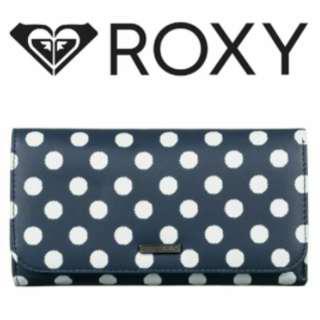 🚚 免運!!現貨全新ROXY可愛點點深藍長夾 #十二月女裝半價