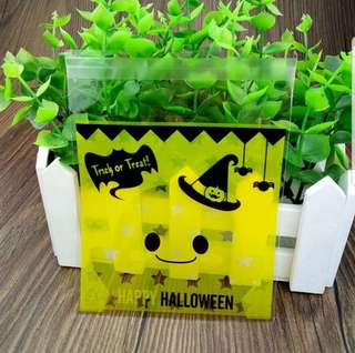 NEW 10cm Halloween / Trick-or-Treat Cookie or Candy Plastic Pouch 20 pcs