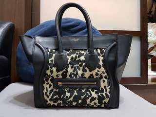 🚚 正品Celine micro luggage 囧包手提包側背包大款豹紋