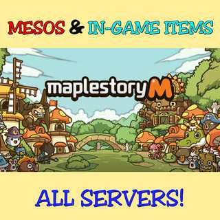 *HOT* MapleStory M / Maple In-Game Items [ ALL SERVERS! ]