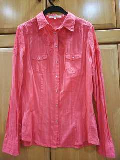 GUESS Pink Lace Blouse
