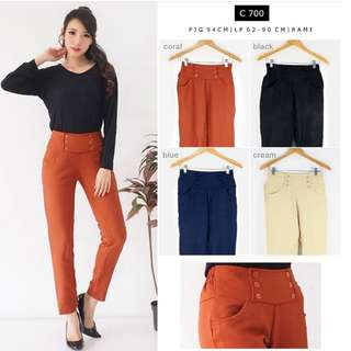 reprice CORAL BUTTON PANTS ( NEW WITH TAG )