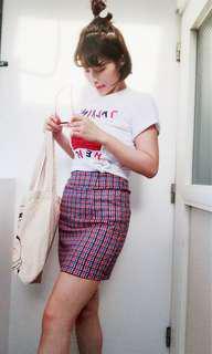 🚚 格子褲裙 短