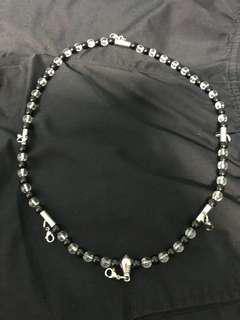 Thai Amulet Necklace - Onyx & Crystal Beads (6 Hooks)