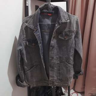 Ashy Blue Grey Jacket Jeans / Outer