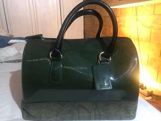 (Reprice)Furla candy bag green snake authentic