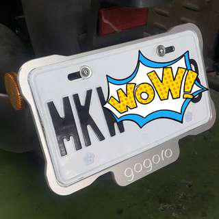 GOGORO2 車牌保護板 大牌板 保護底板 車牌板 保護板 護板 底板