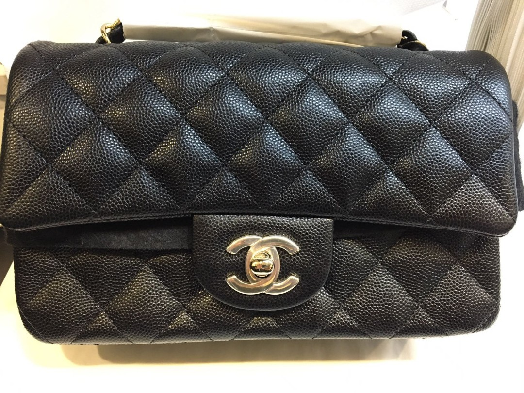 b111cef326e78e RESERVED]#26xxxxxx Brand new in box Chanel rectangular mini caviar ...