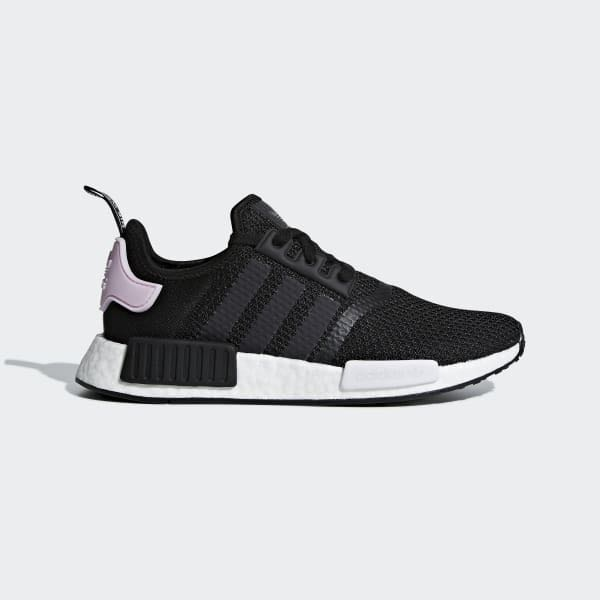 6d3221586b3ee Adidas NMD R1 Core Black Pink UK 3.5 - 8