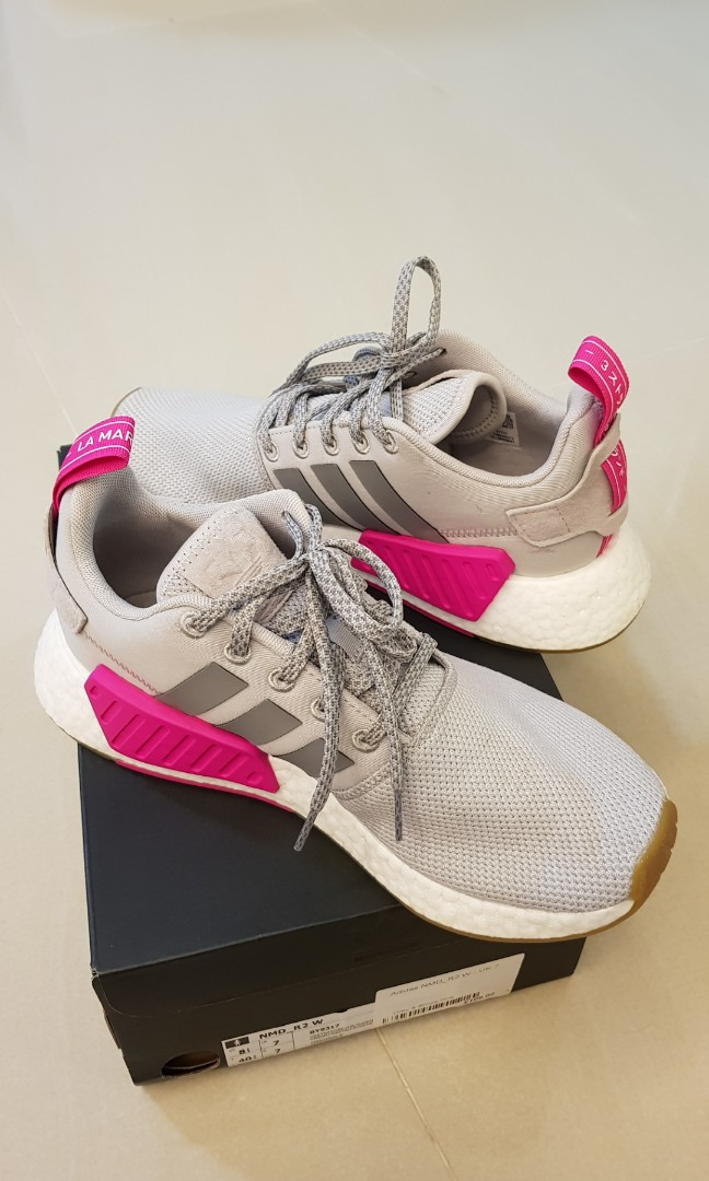 1625810e3d1d Adidas NMD R2 W in Grey Pink