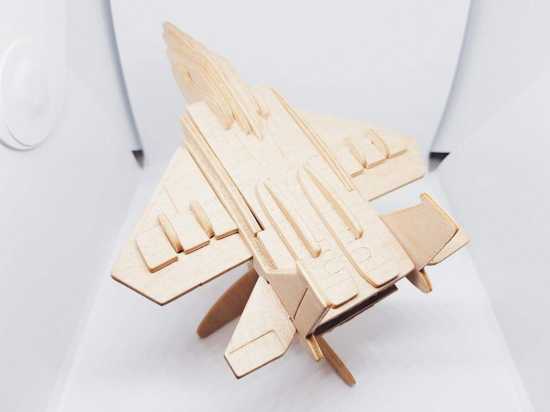 Air Force F15 Fighter Plane Design 3D Puzzle Wood Craft