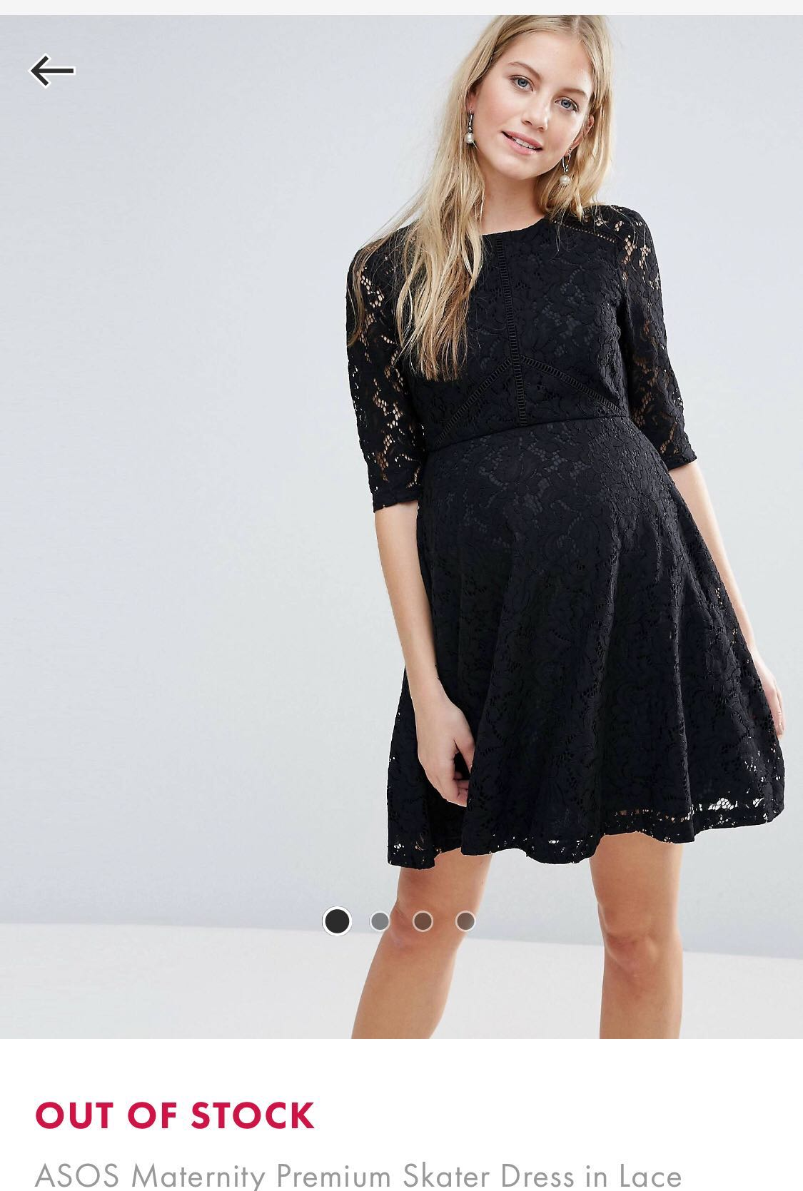 a476dd74a2373 Asos Maternity Lace Skater Dress | Huston Fislar Photography