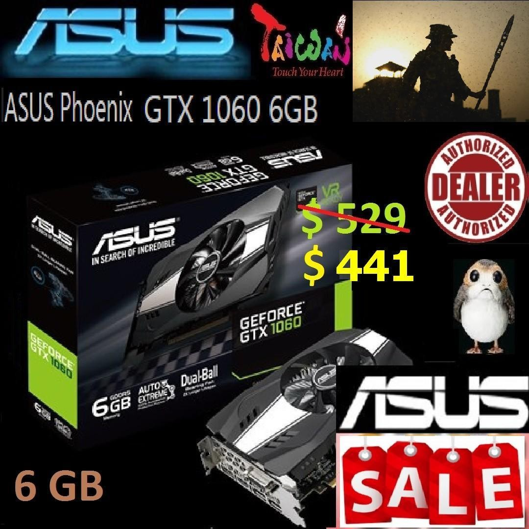 ASUS PHOENIX GTX 1060 6GB GDDR5  * ( Asus July 2018 Sales Offer )
