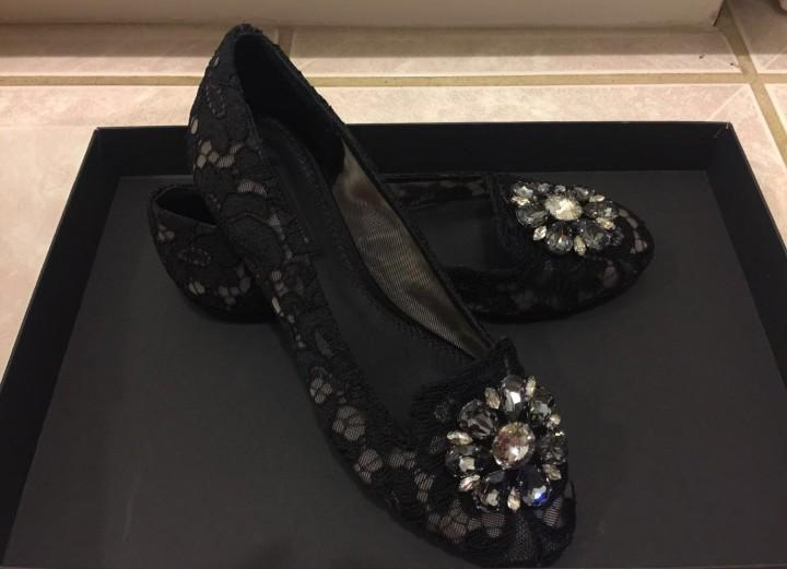 Authentic dolce and gabbana ballet flat lace with crystals by Jamesthompson5264@gmail.com