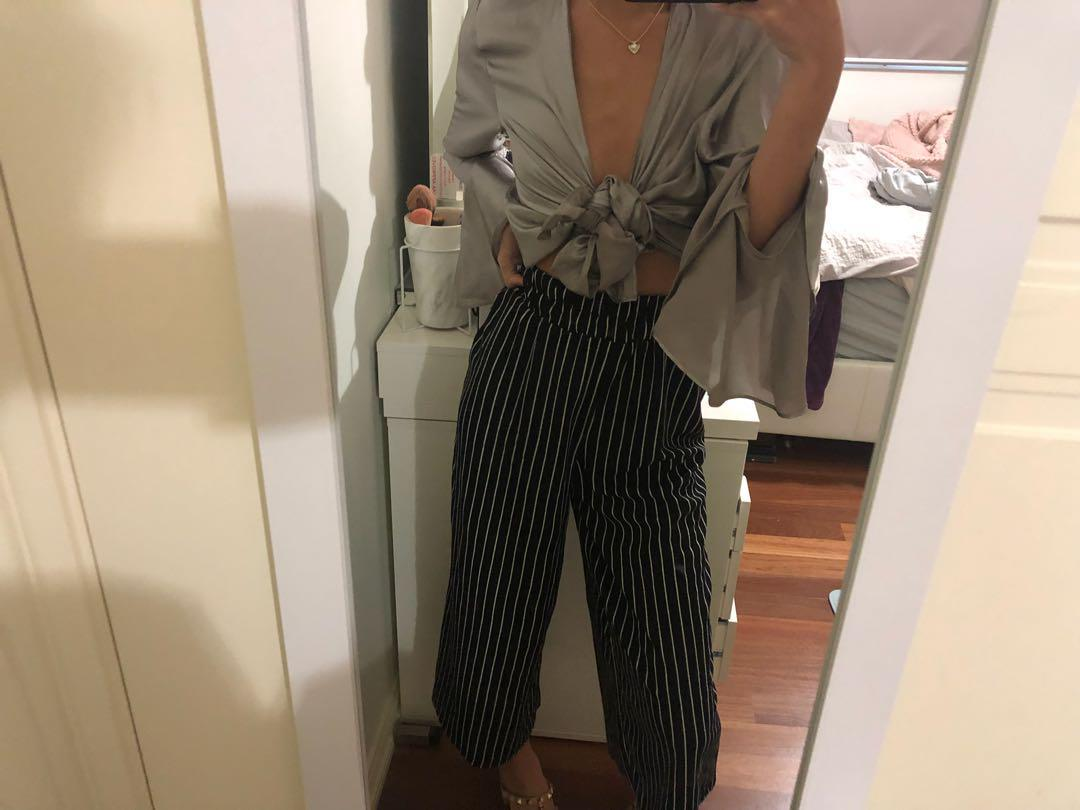 Black and white pants