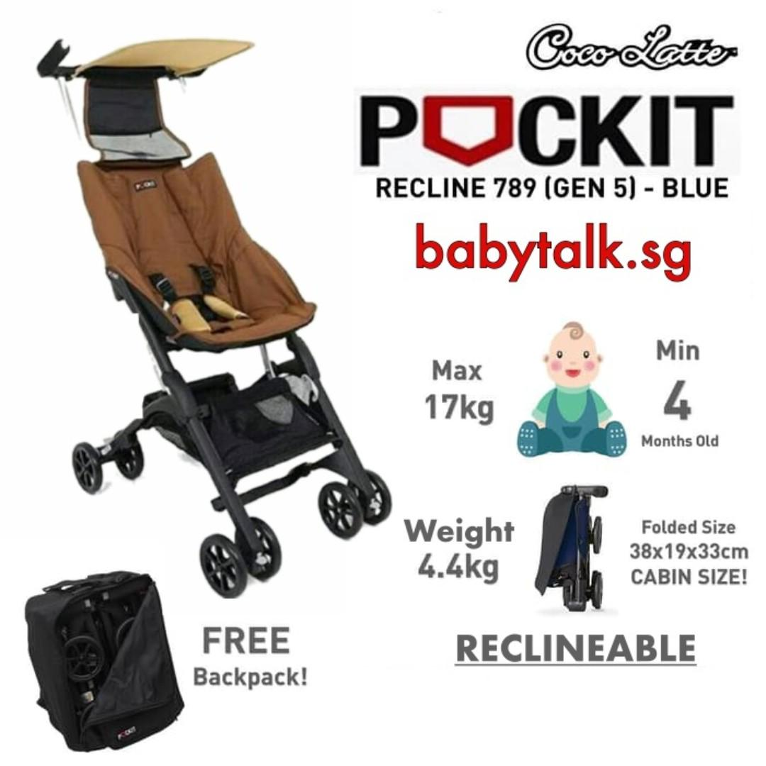 [BNIB] Cocolatte Pockit CL789 | Reclineable, Flight cabin approved | Color: Coffee Brown | FREE DELIVERY | BONUS BACKPACK