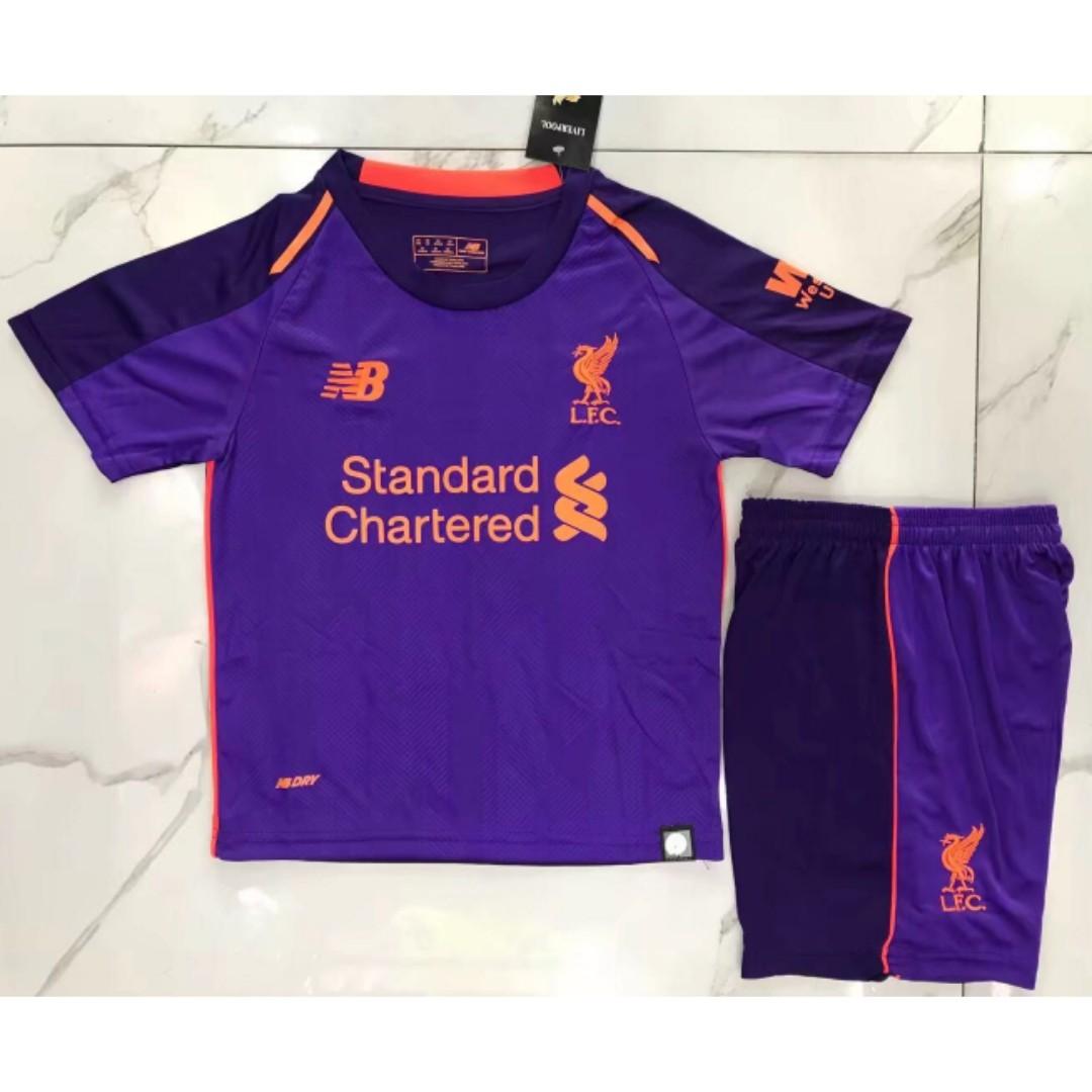 44232f7fb71 BNWT Liverpool Away 18-19 Football Jersey Shirt
