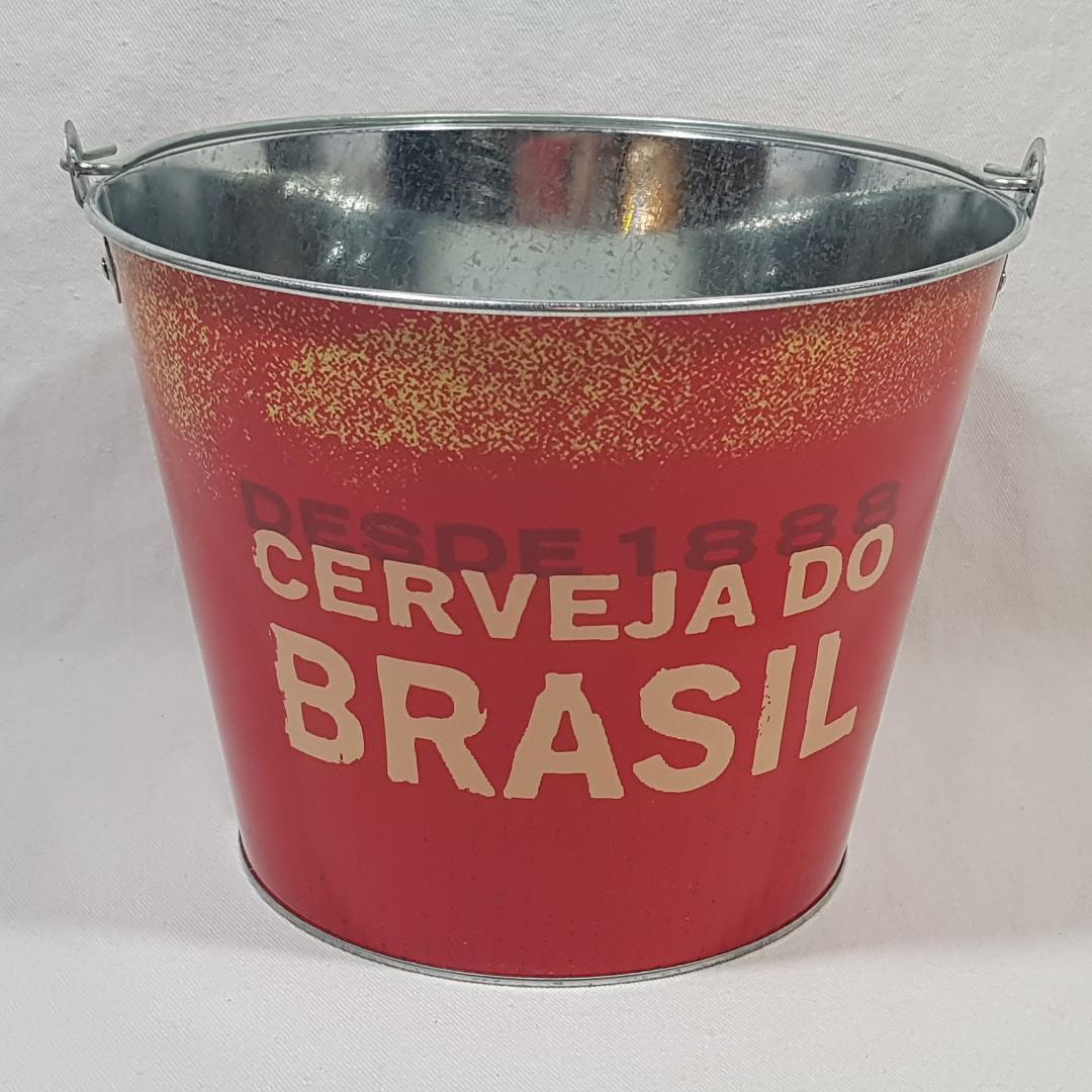 "BRAHMA BEER OF BRAZIL BEER BAR ICE BUCKET 7"" TALL X 9.5"" WIDE"