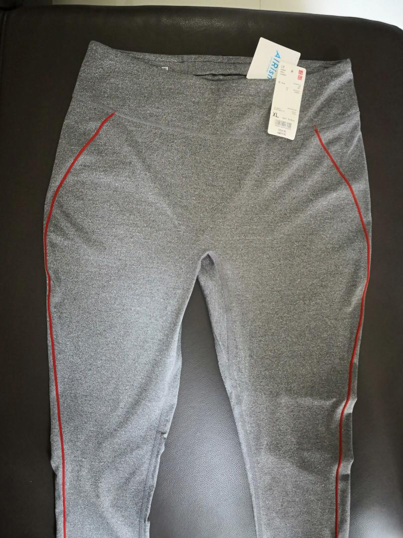 Brand New W Tags Uniqlo Women Airism Leggings Gray Xl Sports Sports Apparel On Carousell