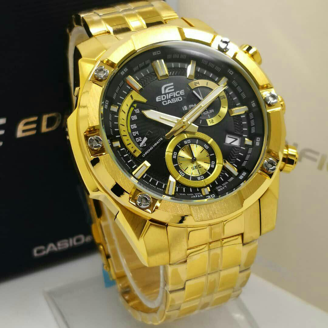 Casio Edifice Full Gold Men S Fashion Watches On Carousell
